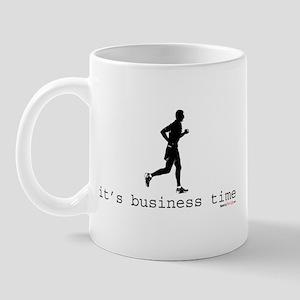 It's Business Time Running Mug
