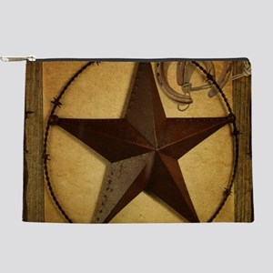 Primitive western country texas star Makeup Bag