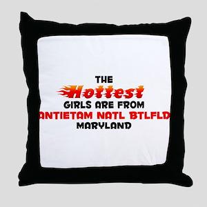 Hot Girls: Antietam Nat, MD Throw Pillow