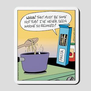 Pasta Hot Tub Mousepad