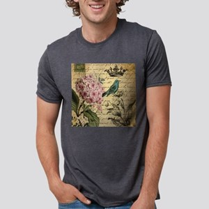 paris hydrangea butterfly french botanical T-Shirt