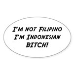 Indonesian American Oval Sticker