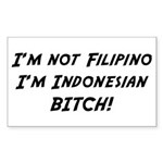 Indonesian American Rectangle Sticker