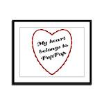 My Heart Belongs to Pap Pap Framed Panel Print