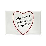 My Heart Belongs to Pap Pap Rectangle Magnet (100