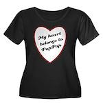 My Heart Belongs to Pap Pap Women's Plus Size Scoo