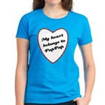 My Heart Belongs to Pap Pap Women's Dark T-Shirt