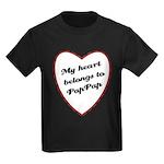 My Heart Belongs to Pap Pap Kids Dark T-Shirt