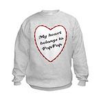 My Heart Belongs to Pap Pap Kids Sweatshirt