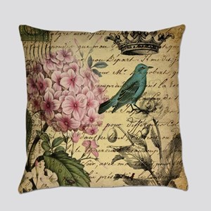 paris hydrangea butterfly french b Everyday Pillow
