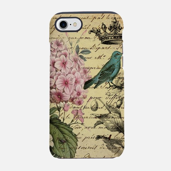 paris hydrangea butterfly fr iPhone 8/7 Tough Case