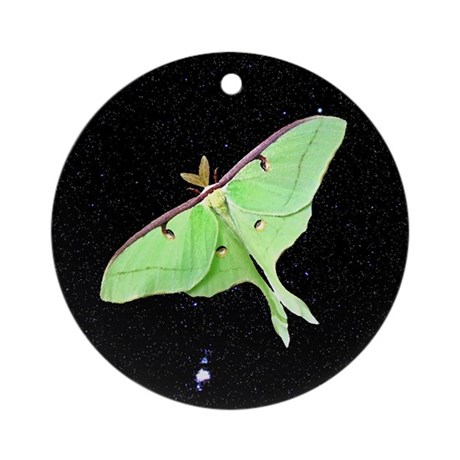 Luna Moth Ornament (Round)