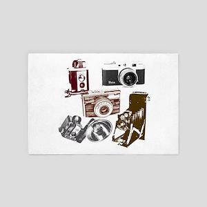 retro photographer vintage camera 4' x 6' Rug