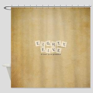 Scrabble Eighty Five Shower Curtain