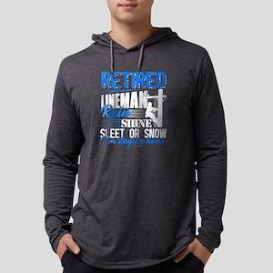 Retired Lineman Shirt Long Sleeve T-Shirt