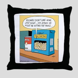 Macaroni & Sauce Throw Pillow