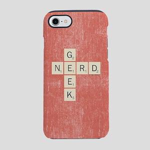 Scrabble Geek Nerd iPhone 8/7 Tough Case