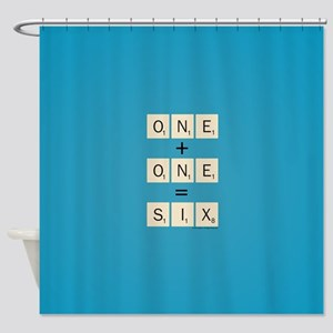 Scrabble One Plus One Six Shower Curtain
