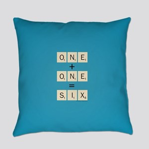 Scrabble One Plus One Six Everyday Pillow
