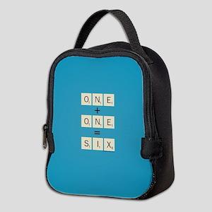 Scrabble One Plus One Six Neoprene Lunch Bag