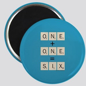 Scrabble One Plus One Six Magnet