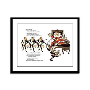 Old King Cole Framed Panel Print