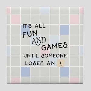 Scrabble All Fun and Games Tile Coaster