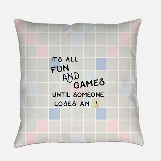 Scrabble All Fun and Games Everyday Pillow