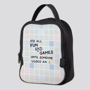 Scrabble All Fun and Games Neoprene Lunch Bag