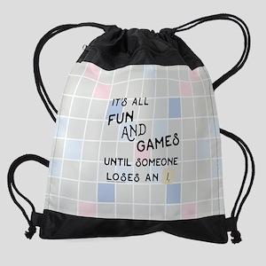 Scrabble All Fun and Games Drawstring Bag
