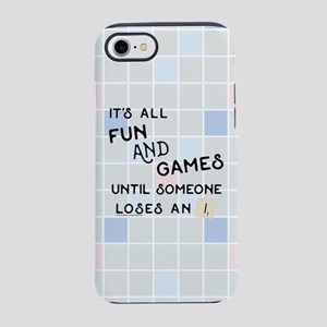 Scrabble All Fun and Games iPhone 8/7 Tough Case