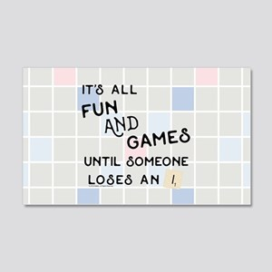 Scrabble All Fun and Games 20x12 Wall Decal