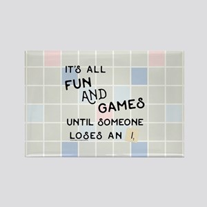 Scrabble All Fun and Games Rectangle Magnet