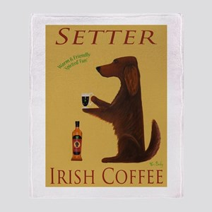 Setter Irish Coffee Throw Blanket