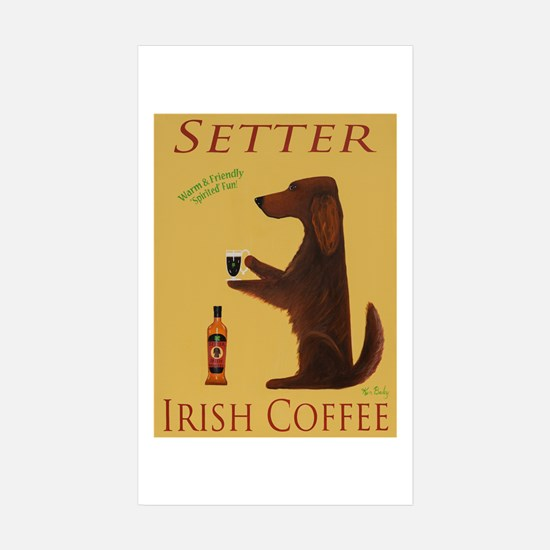 Setter Irish Coffee Sticker (Rectangle 10 pk)