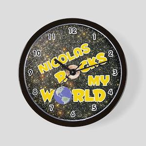 Nicolas Rocks My World (Gold) Wall Clock