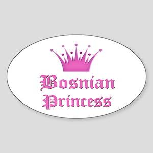 Bosnian Princess Oval Sticker