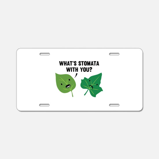 Stomata Aluminum License Plate