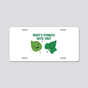 Stomata Aluminum License Plate