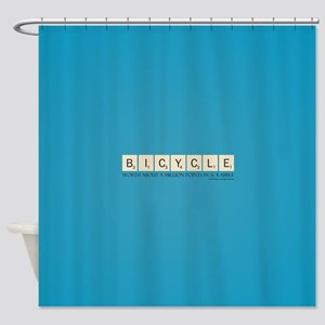 Scrabble Bicycle Million Points Shower Curtain