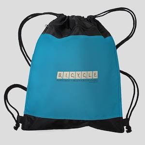 Scrabble Bicycle Million Points Drawstring Bag
