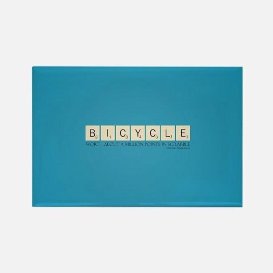 Scrabble Bicycle Million Points Rectangle Magnet