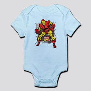 Iron Man Ripped Baby Light Bodysuit