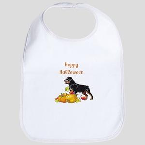 Happy Halloween Rottweiler Bib