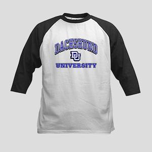 Dachshund University Kids Baseball Jersey