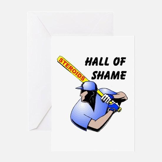 HALL OF SHAME Greeting Card