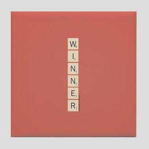 Scrabble Winner Tile Coaster