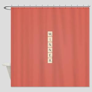 Scrabble Winner Shower Curtain
