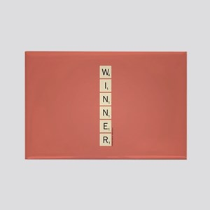 Scrabble Winner Rectangle Magnet