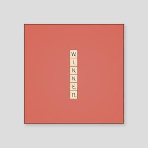 """Scrabble Winner Square Sticker 3"""" x 3"""""""